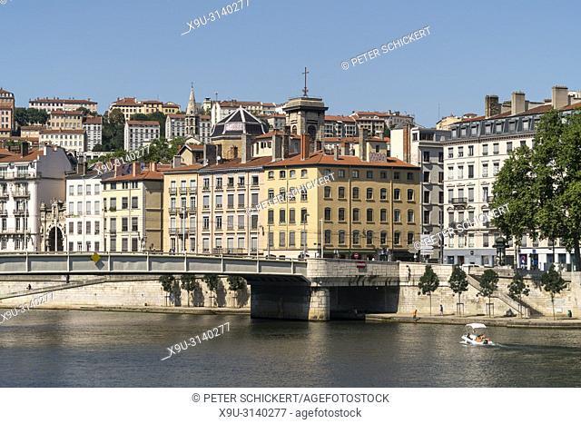 Lyon und der Fluss Saone, Auvergne-Rhone-Alpes, Frankreich | Lyon and Saone river, Auvergne-Rhone-Alpes, France