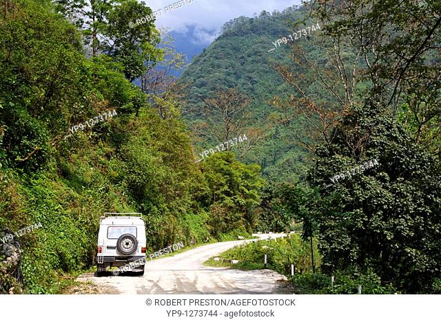 Tourist jeep on a day trip out of Gangtok, Sikkim, India
