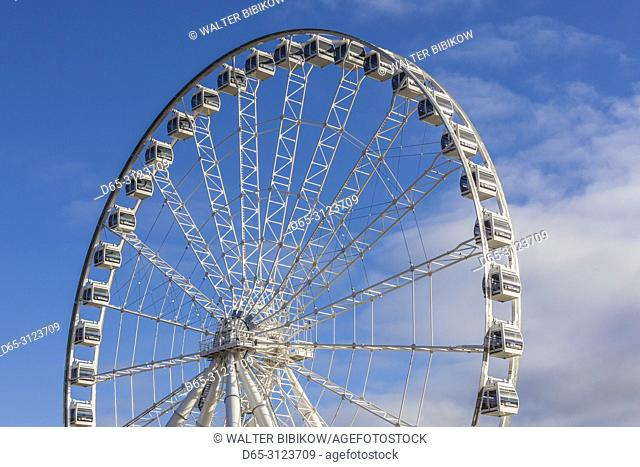 Canada, Quebec, Montreal, The Old Port, The Montreal Observation Wheel, autumn