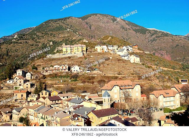 Village of Rimplas, Tinee valley, Alpes-Maritimes, Mercantour national park, France