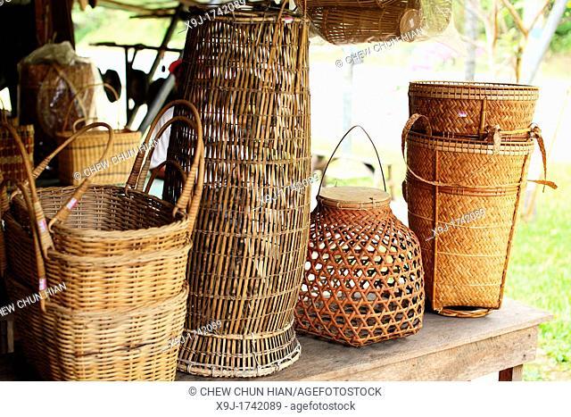 rattan baskets, Sabah, Malaysia