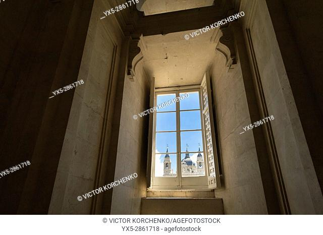 Window of the Royal Palace in Madrid
