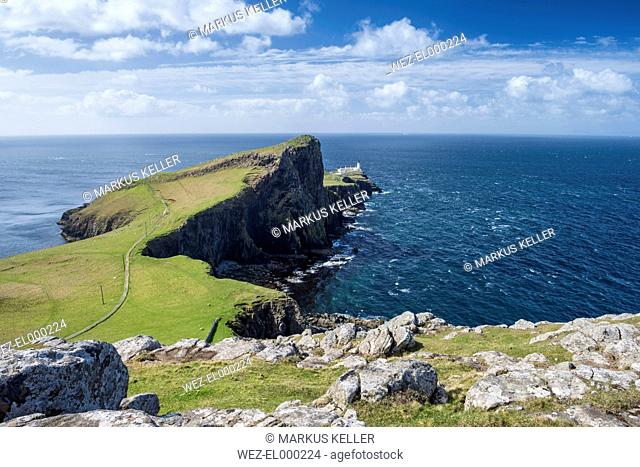 United Kingdom, Scotland, View of Neist Point Lighthouse