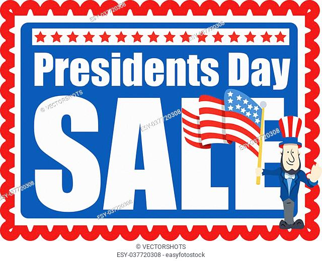Presidents Day Sale Stamp Style Background
