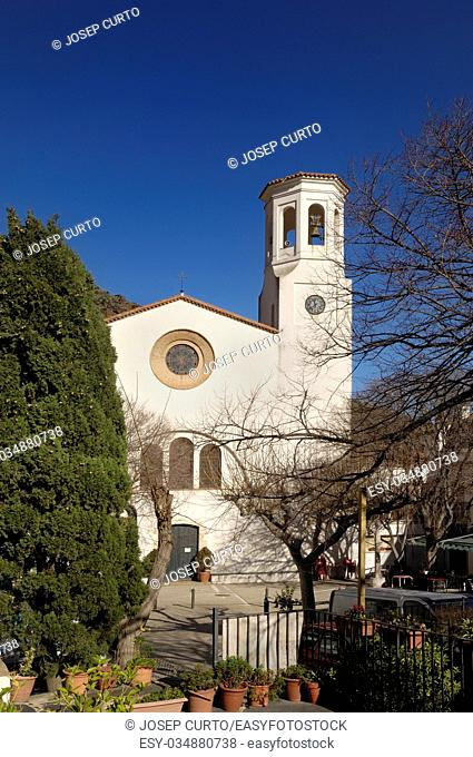 Sant Esteve church, La Selva de Mar, Alt Emporda, Girona province, Catalonia, Spain