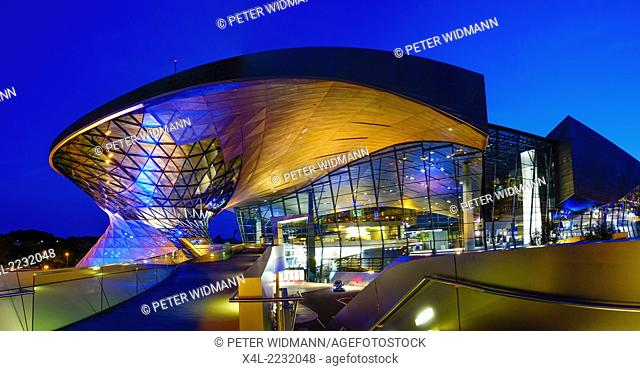 BMW Welt in Munich at Night, Bavaria, Germany, Europe