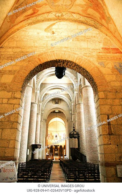 France, Tournus In Southern Burgundy Region, The Abbey Church Of Saint-Philibert
