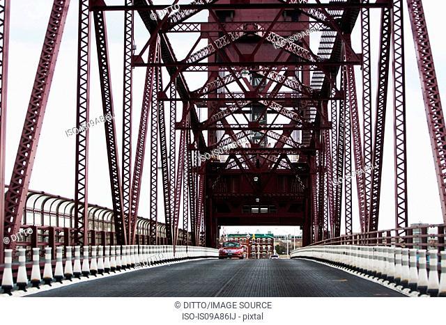 Road on Queensboro Bridge, New York City, USA