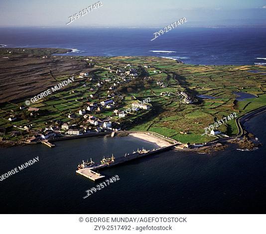 Kilronan Harbour,. Inishmore Island, The Aran Islands,. Off County Galway, Ireland