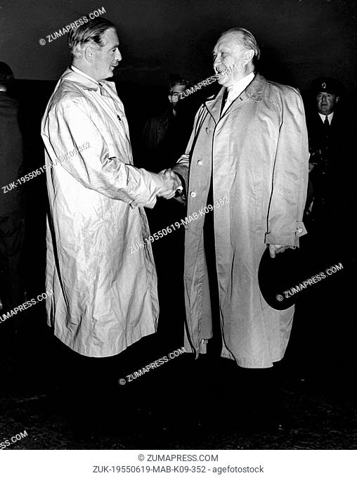 June 19, 1955 - London, England, U.K. - West Germany's first chancellor KONRAD ADENAUER began his career in politics as a member of the Cologne City Council