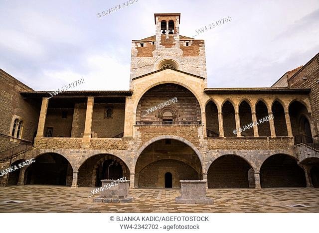 Palace of the Kings of Majorca, Courtyard, Perpignan, Pyrenees-Orientales, France