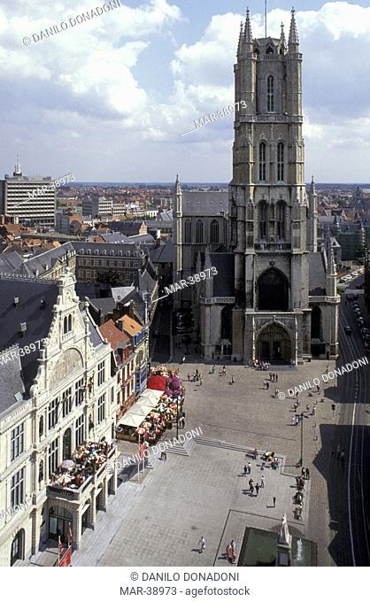 sint baafsplein, gand, belgium