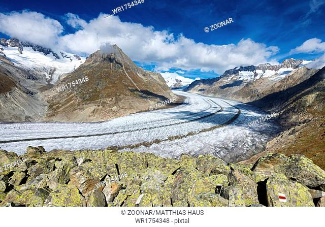 Aletsch Glacier, Valais, Switzerland, Europe