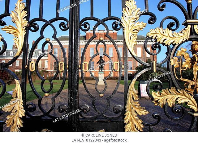 Kensington Palace is a royal residence set in Kensington Gardens in the Royal Borough of Kensington and Chelsea in London,England