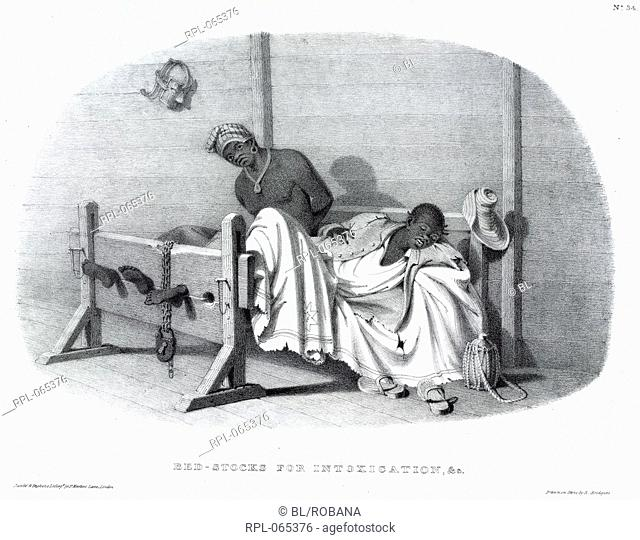 Bed-stocks, 'Bed-stocks for intoxication, & c'. 'This is one of a series of plates, in which it is proposed to exhibit the various kinds of stocks directed by...