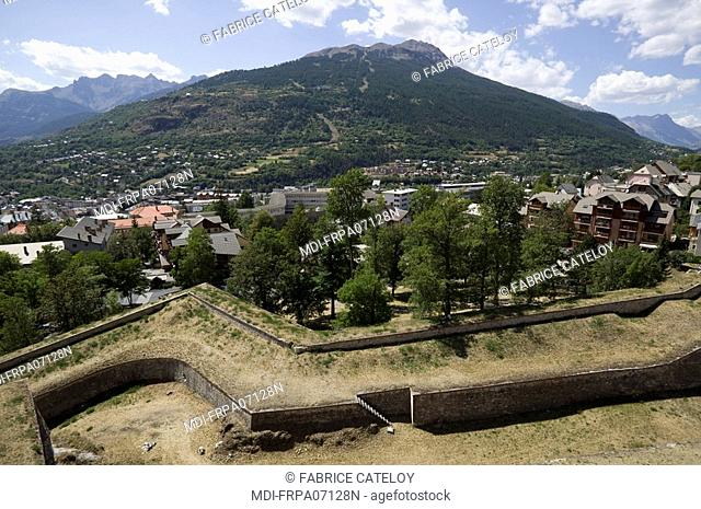 The fortified surrounding wall built by Vauban