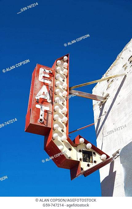 USA Texas Amarillo  Route 66  San Jacinto area  Antique stores