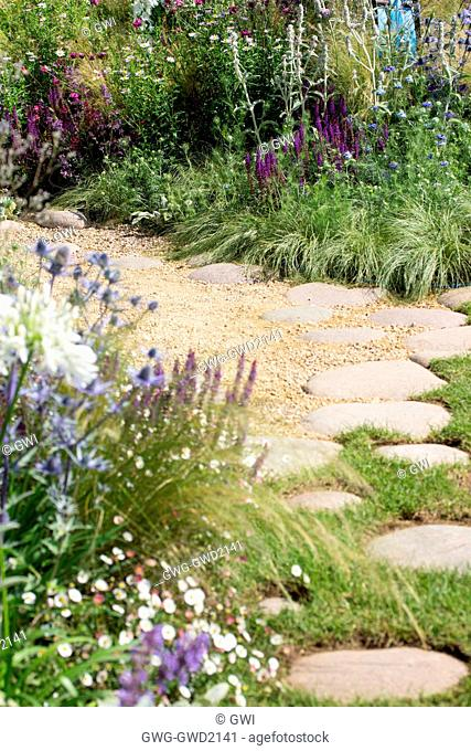 THE ECOVER GARDEN BY MATTHEW CHILDS RHS HAMPTON COURT FLOWER SHOW BEST IN SHOW AND GOLD MEDAL WINNER