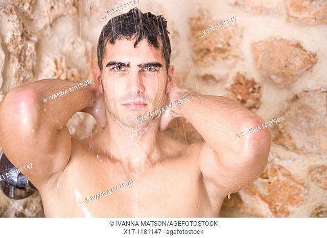Man under the shower