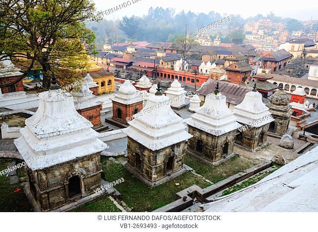 Pashupatinath temple overview at dawn. Kathmandu, Nepal