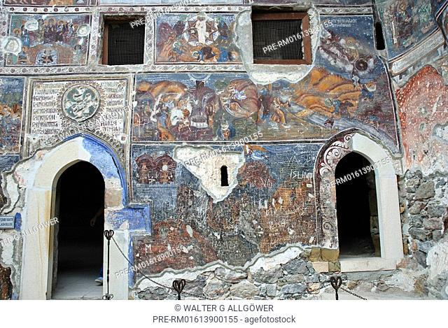 Mural paintings, Sümela Monastery, Trabzon province, Turkey