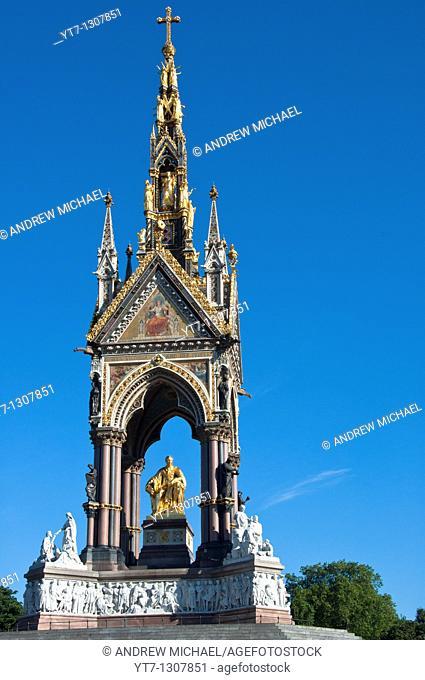 The Prince Albert Memorial in Hyde Park London England