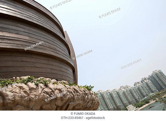 Noah's Ark and the Park Island residential complex, Ma Wan, Hong Kong
