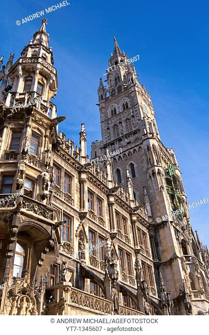 New town hall at Marienplatz in Munich, Germany