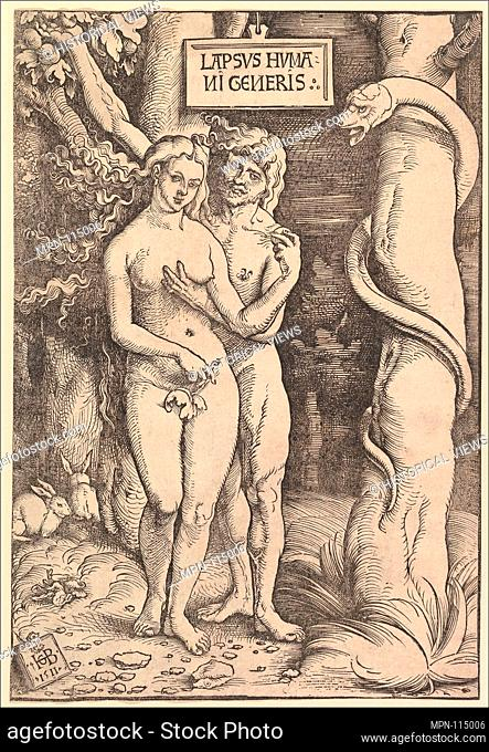 Adam and Eve. Artist: Hans Baldung (called Hans Baldung Grien) (German, Schwäbisch Gmünd (?) 1484/85-1545 Strasbourg (Strassburg)); Date: 1511; Medium: Woodcut;...