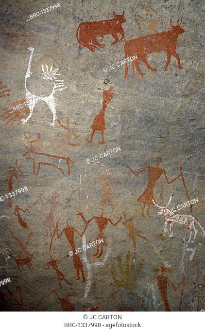 , Cave, Painting, Rupestrian painting, Akakus Libya