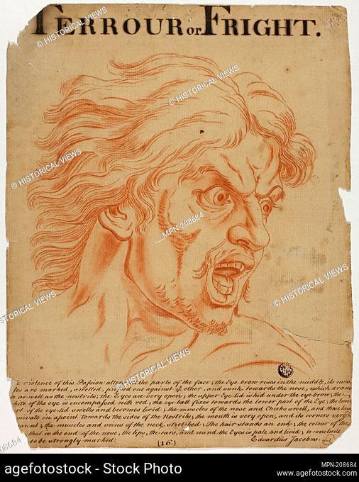 Terrour (sic) or Fright - after 1698 - Eduardus Jacobus (British, 18th century) after Charles Le Brun (French, 1619-1690) - Artist: Eduardus Jacobus