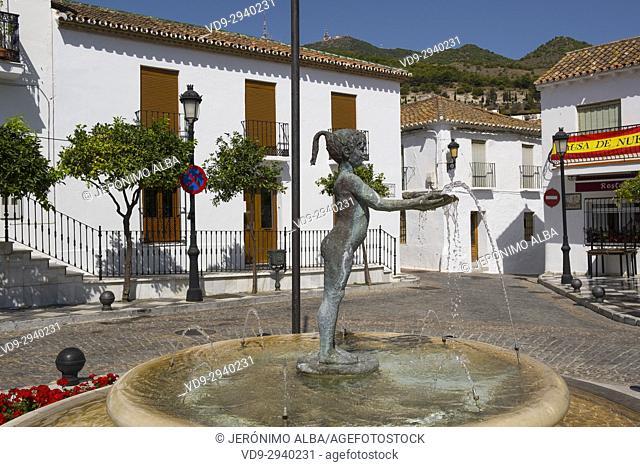 Niña de Benalmadena in Plaza de España, Benalmadena Pueblo. Malaga province. Costa del Sol, Andalusia southern Spain, Europe