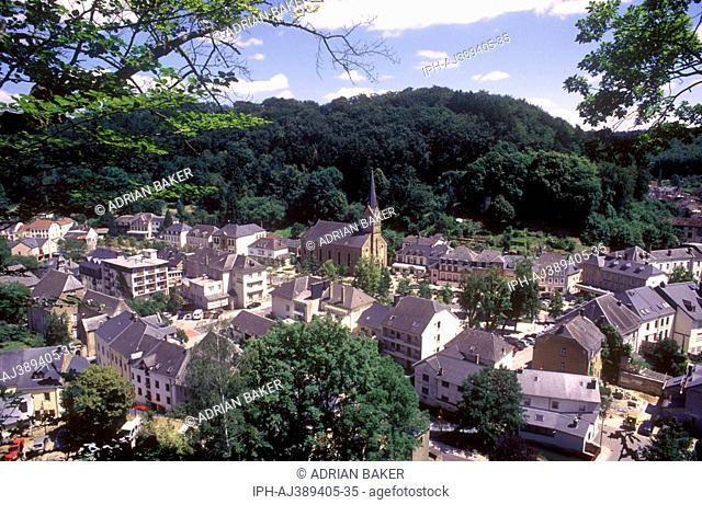 Luxembourg - View over the delightful little town of Larochette on the White Ernz River