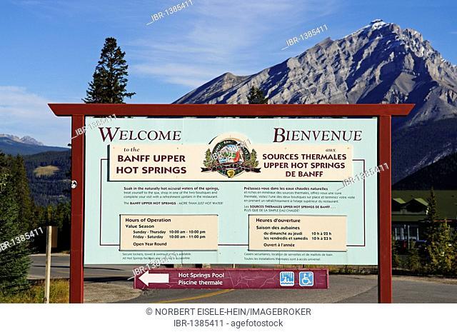 Banff Upper Hot Springs, Banff National Park, Alberta, Canada