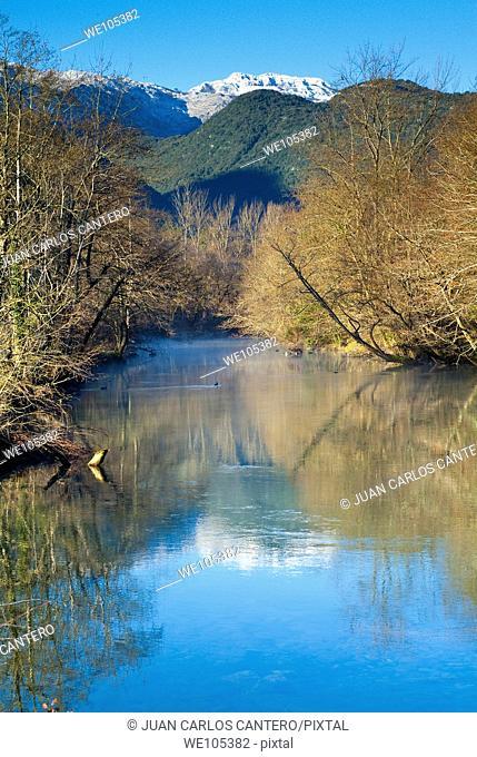 Rio Asón en Ramales de la Victoria  Cantabria  España  Europa