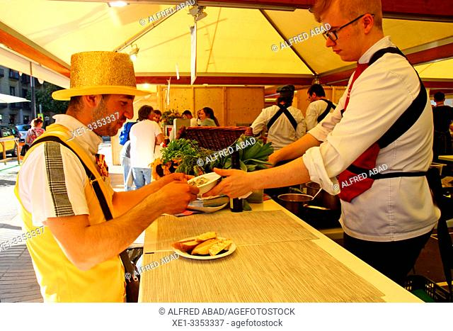 food service, gastronomic festival 'Tast a la Rambla', 6th Gastronomy Week of Barcelona, Catalonia, Spain