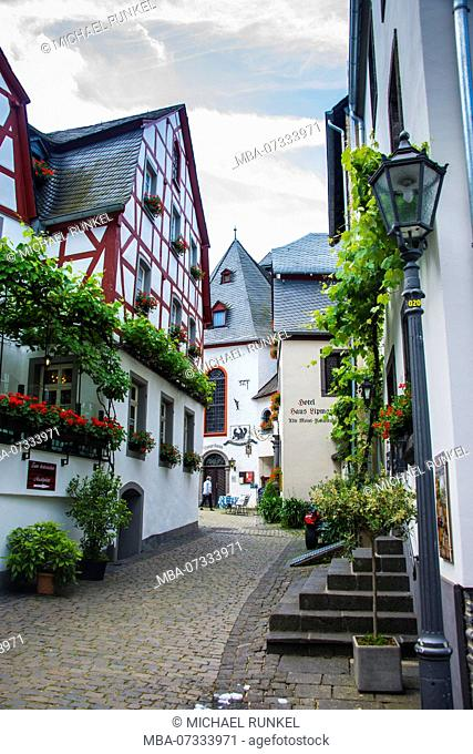 Half timbered houses in Beilstein, Moselle valley, Rhineland-Palatinate, Germany