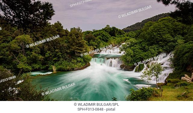 Waterfalls, Krka National Park, Dalmatia, Croatia