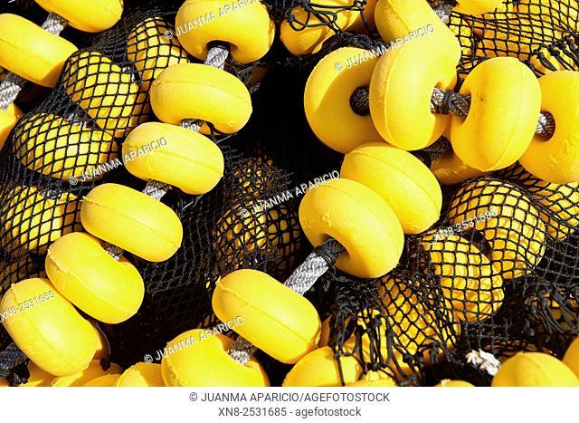 Detail of the Fishing Net, Santoña, Cantabria, Spain