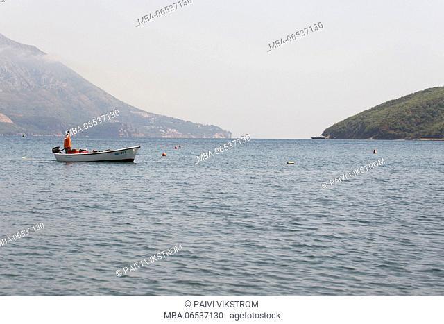 Fisherman by boat, Budva Montenegro
