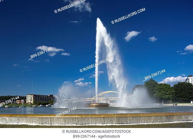 Fountain Point State Park Downtown Pittsburgh Pennsylvania Usa