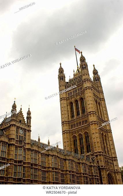 View of Architectural details of Palace of Westminster