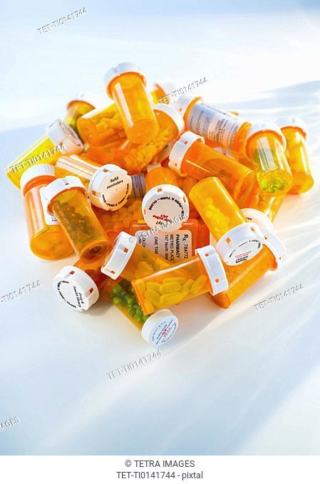 Bottles of prescription medication