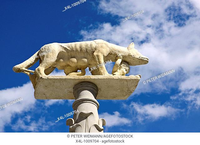 Italy, Tuscany, Siena, The Capitoline Wolf  Lupa Capitolina Romulus and Remus