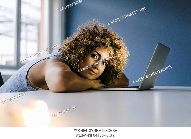 Woman working overtime in her start-up business