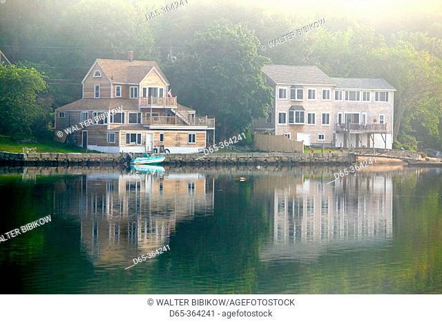 Morning mist on Goose cove. Gloucester. Massachusetts. USA