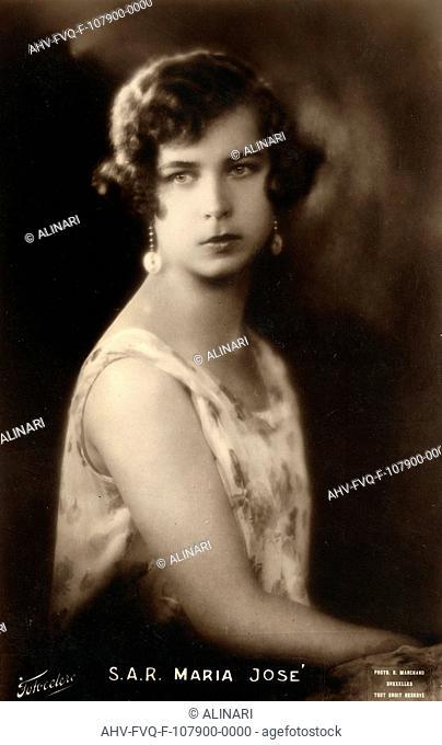 Princess Maria Jose (1906-2001), shot 1935 ca. by Marchand R