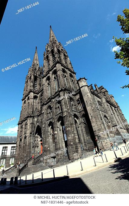 Cathedral, Clermont-Ferrand, Puy-de-Dome, Auvergne, France