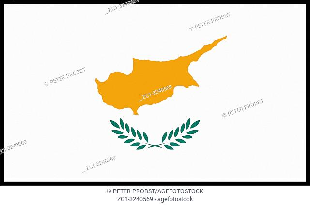 National flag of the Republic of Cyprus