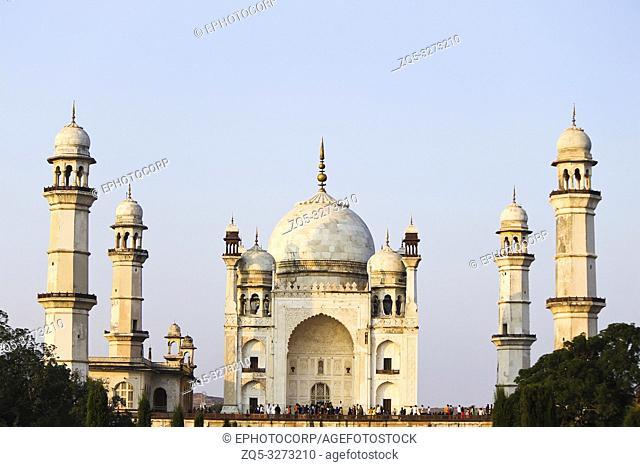 Bibi Ka Maqbara built by Mughal emperor Aurangzeb's son Azam Shah in the memory of his mother. Aurangabad, Maharashtra, India